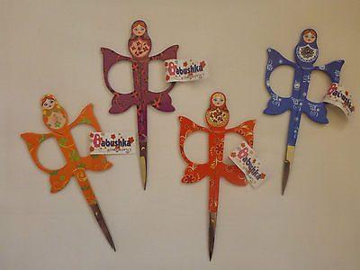 "Embroidery Scissors 4.3"" (11.0cm) Babushka[Blue]-143"